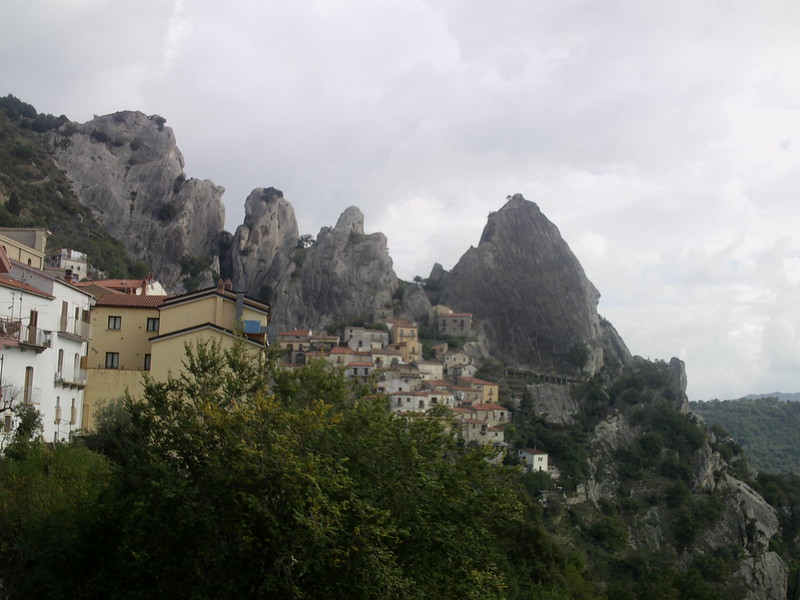 Across from Castelmezzano