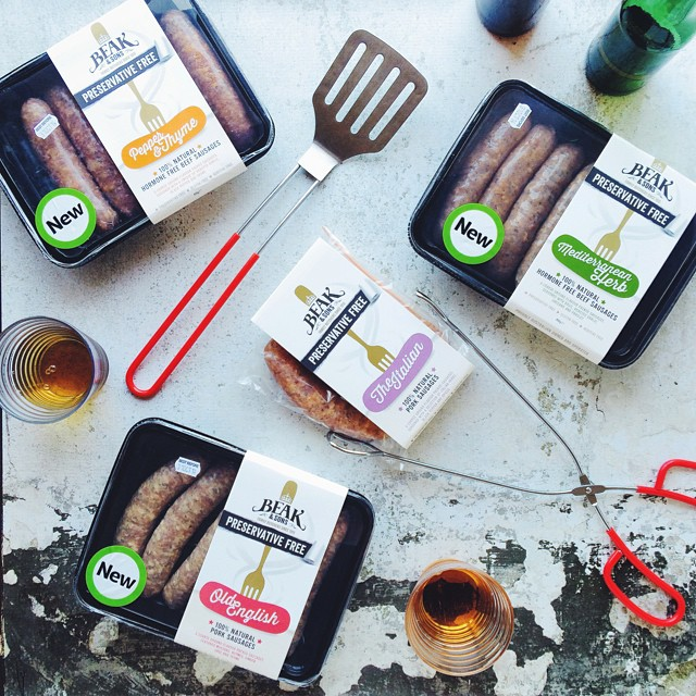 RJ has been officially named the head of all editorial opinions on meat. Thanks to #beakandsons and their new completely preservative free range of sausages it looks like we'll be having a bbq with friends this weekend.   New range has no nasties an