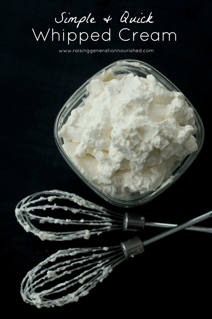 Simple & Quick Whipped Cream