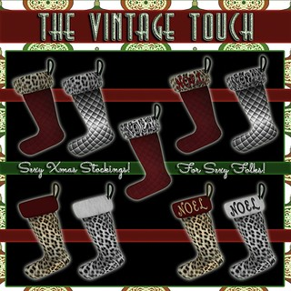 Vintage Touch Sexy Xmas Stockings