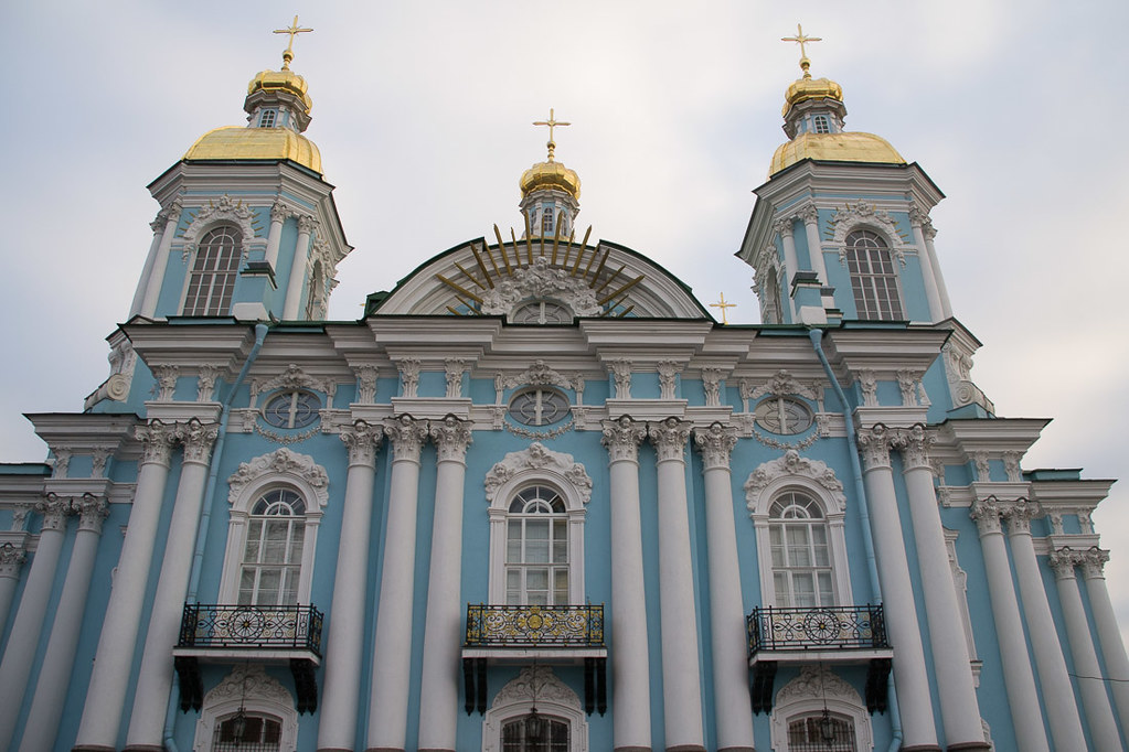 St. Nicholas Cathedral in St. Petersburg Russia