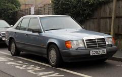 mercedes-benz w126(0.0), mercedes-benz 450sel 6.9(0.0), automobile(1.0), automotive exterior(1.0), vehicle(1.0), mercedes-benz w124(1.0), mercedes-benz(1.0), mid-size car(1.0), mercedes-benz 500e(1.0), sedan(1.0), classic car(1.0), land vehicle(1.0), luxury vehicle(1.0),