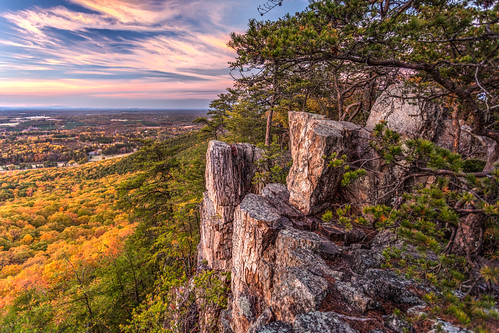 autumn sunset fall landscape nc rocks scenic northcarolina cliffs foliage hdr mountian crowdersmountain