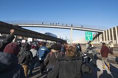 Black Lives Matter march down I-35