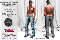 Male full perm mesh sweats