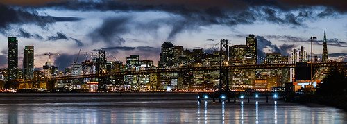 sanfrancisco california city sunset sky urban storm black color reflection rain skyline night dark oakland bay nikon december view over baybridge bayarea vista eastbay 80 alamedacounty d800 portofoakland 2014
