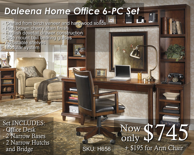 Daleena Home Office Set - Priced