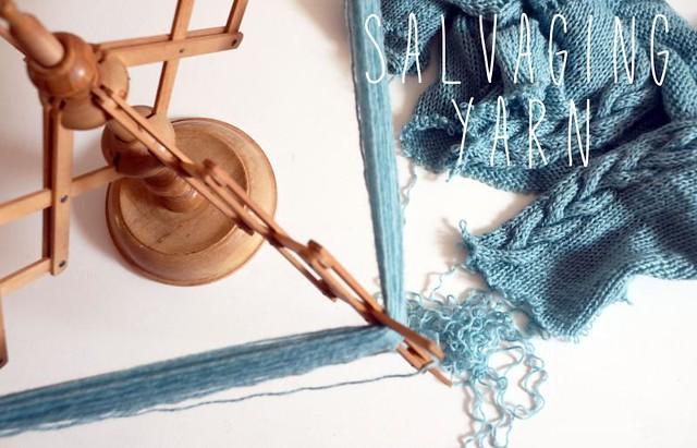 salvaging yarn