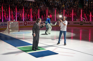 """Mr O'Canada"", Vancouver Canucks Game"