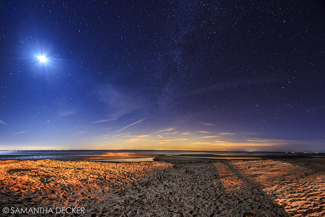 Milky Way Over First Enocunter Beach