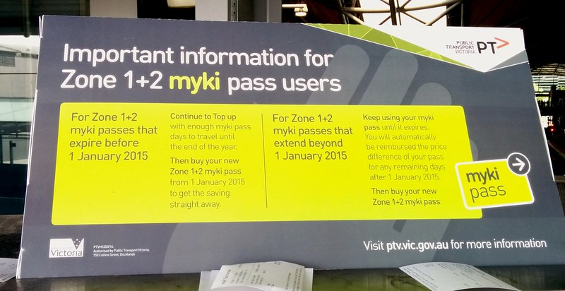 Myki zone changes
