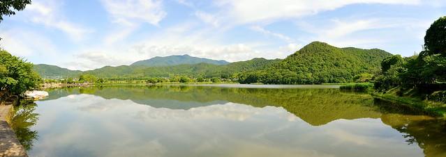 Hirosawa pond panorama