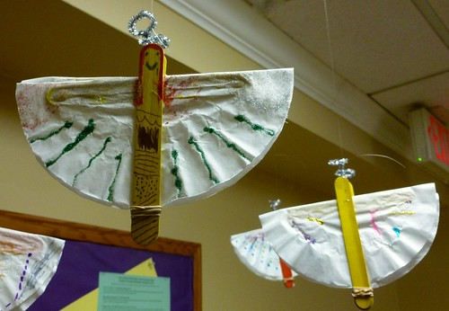 Angels made by the younger kids at church