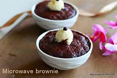 microwave-chocolate brownie