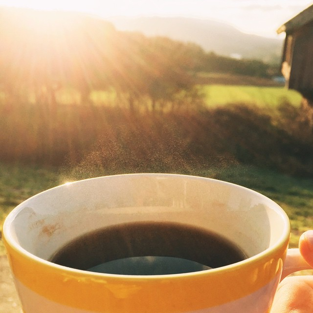 Coffee in the sunshine