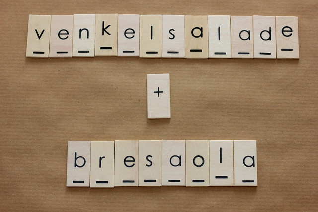 venkelsalade met bresaola en parmezaanse kaas