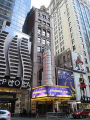 New Amsterdam Theatre Marquee 42nd street 2845