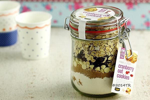 蔓越莓麥片餅乾,用玻璃瓶把餅乾素材裝起來-20141226
