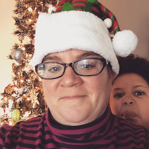 "my christmas ""elfie"" got photobombed."