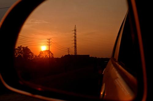 new sunset orange india reflection mirror view year rear bangalore future karnataka past nikond90