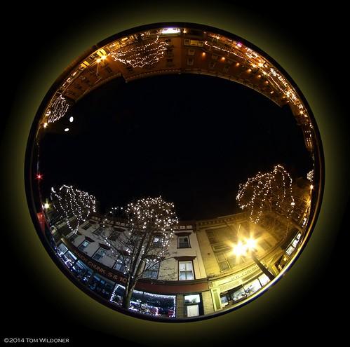christmas street panorama holiday beauty shopping pennsylvania january scenic fisheye pa chunk circular jimthorpe mauch 2015 widefield mauchchunk switzerlandofamerica tomwildoner