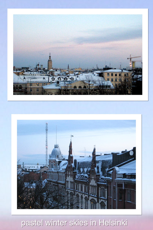 Anna Amnell: pastel winter skies in Helsinki