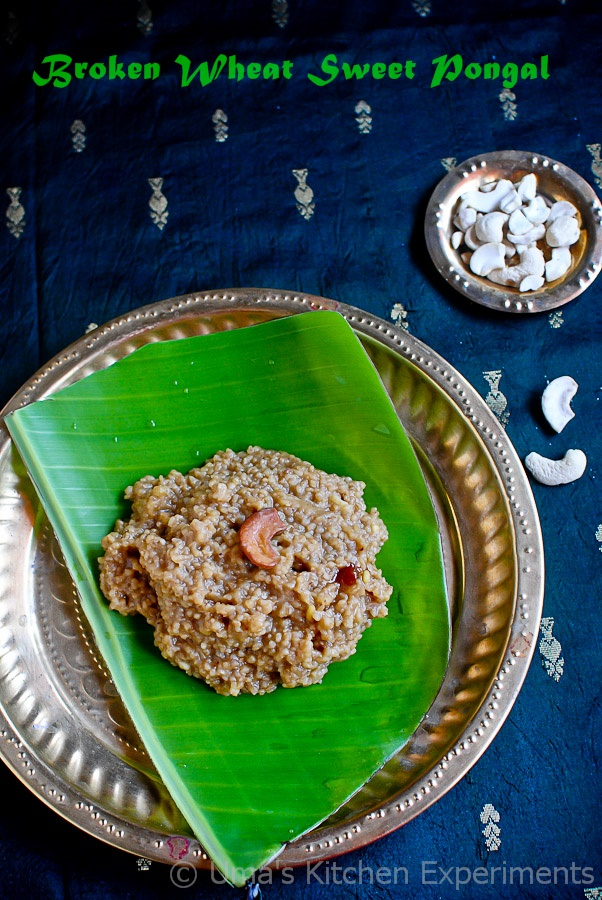 Broken Wheat Sweet Pongal-2