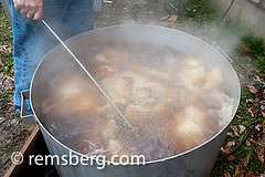 Boiling stuffed hams in St Mary's County Mary…