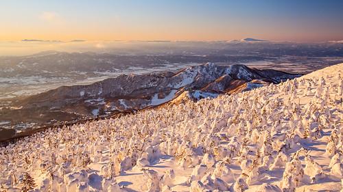 sunset japan landscape pentax 日本 日落 yamagata zao 山形 k3 山形県 yamagataprefecture zaosnowmonster 蔵王樹氷