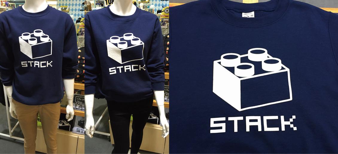 stack-經典積木-刷毛大學t-藏青
