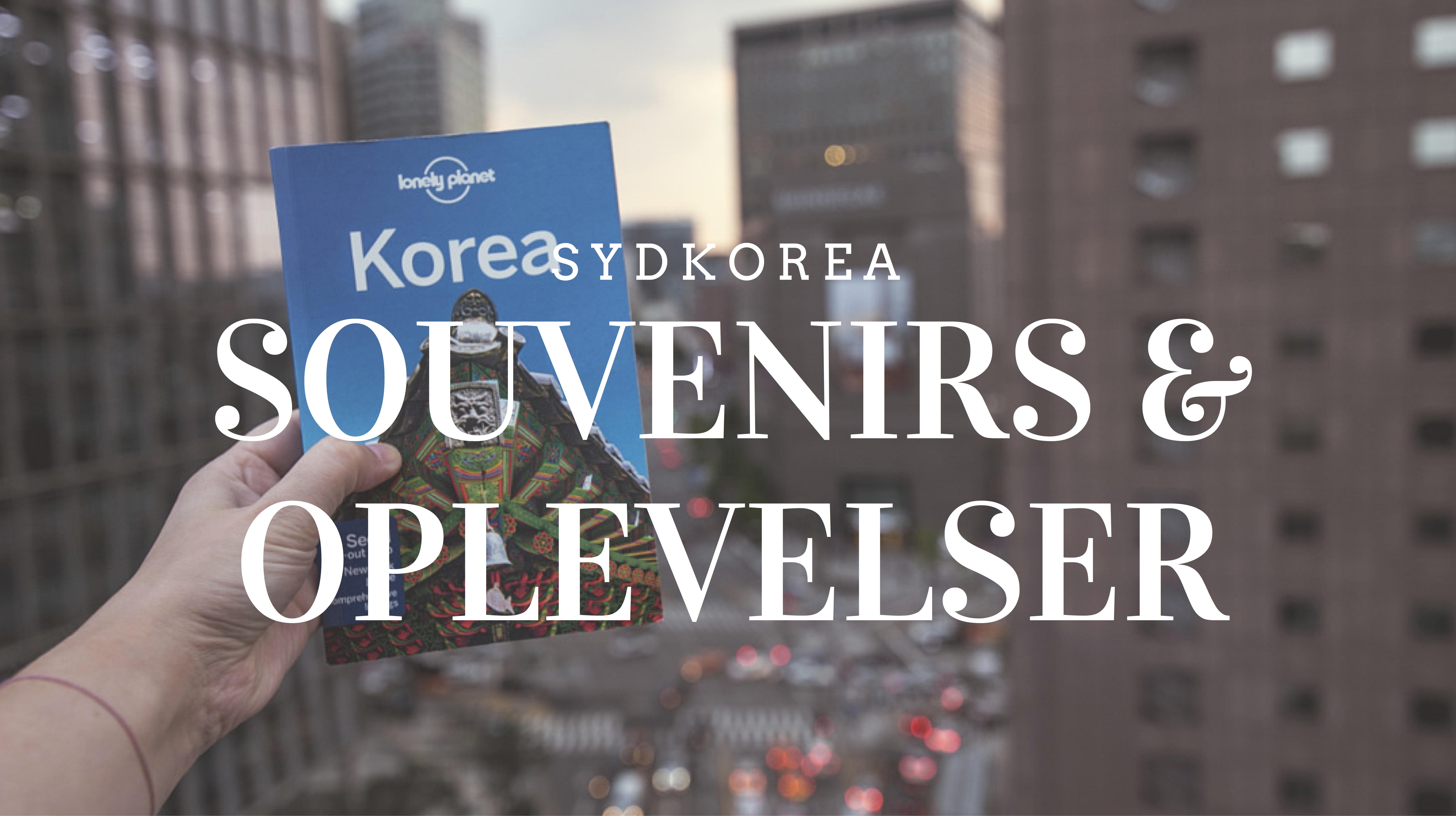 Rejsebudget Sydkorea Souvenirs og Oplevelser