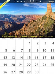 June 2016 Calendar: Grand Canyon National Park @GrandCanyonNPS  @NatlParkService #FindYourPark (Photo: Michael Quinn)
