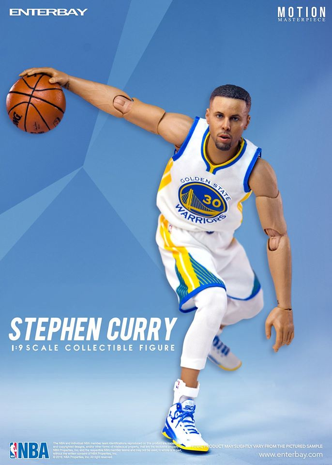 ENTERBAY – NBA 系列【史蒂芬.柯瑞】咖哩小子 Stephen Curry 1/9 比例人偶作品