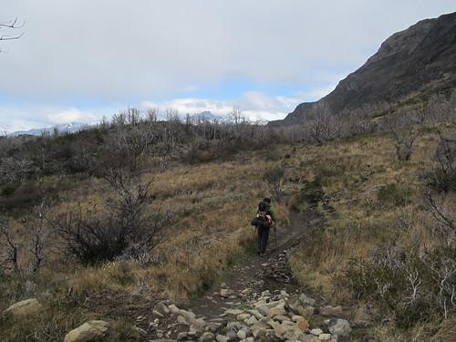 Torres del Paine: trek du W. Jour 3: en direction de Paine Grande