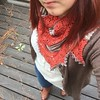 Another knit. #germinateshawl in #madelinetosh and #alphabyarns . Have I mentioned I love autumn? :maple_leaf::fallen_leaf: