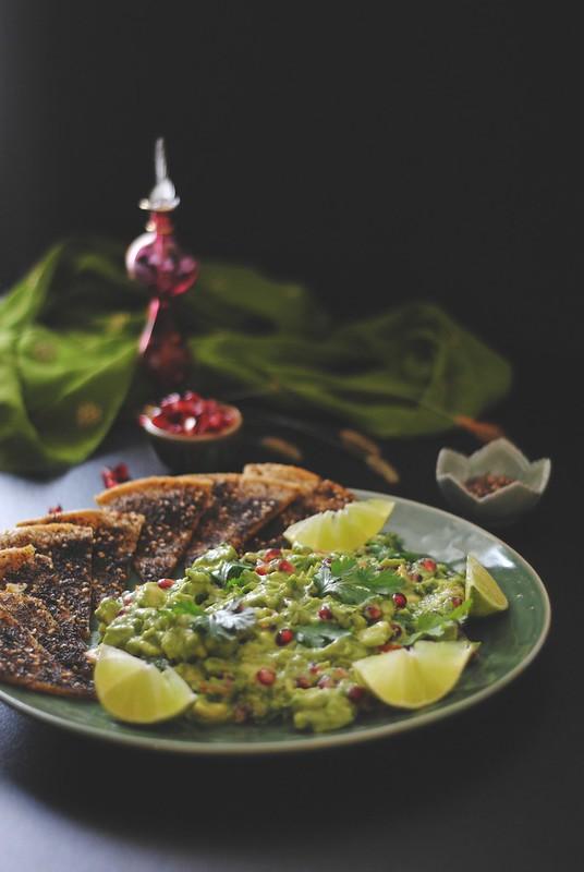 za'atar socca + smashed avocado