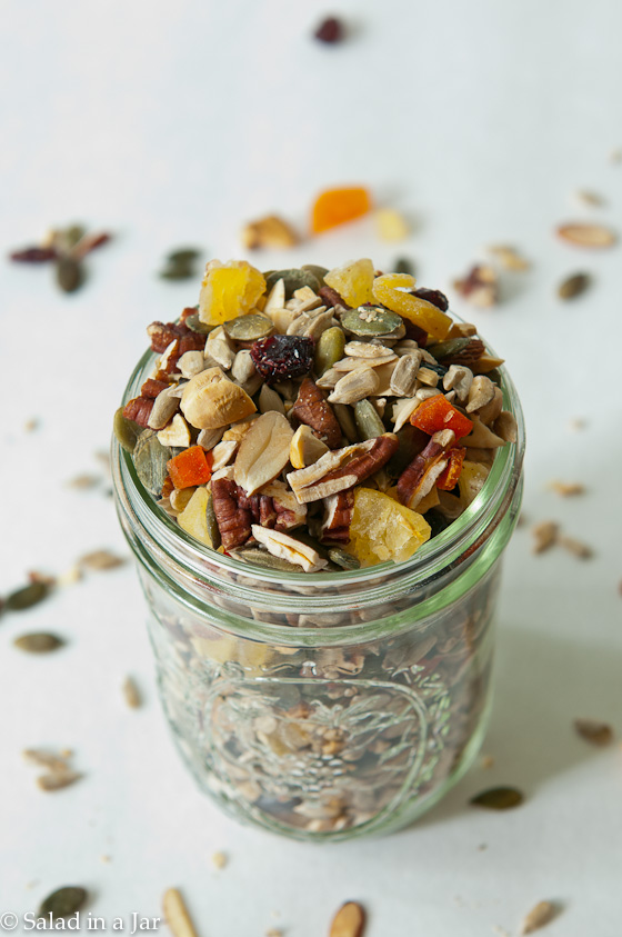 Homemade Fruit and Nut Trail Mix --makes a great travel snack or salad addition