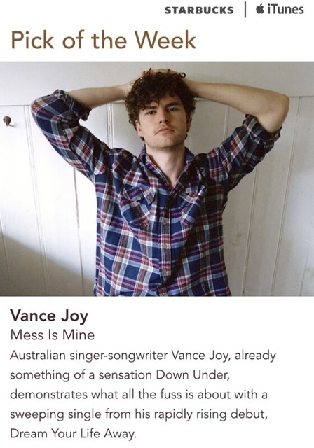 Starbucks iTunes Pick of the Week - Vance Joy - Mess is Mine