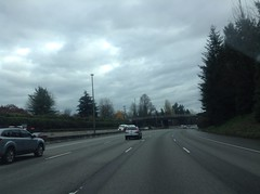 Almost to the Boulevard Rd. Overpass on I-5 North in Olympia, WA 11-26-14.