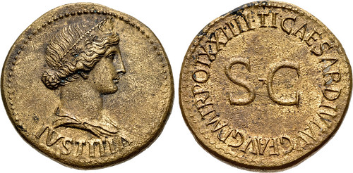 Tiberius As with IVSTITIA