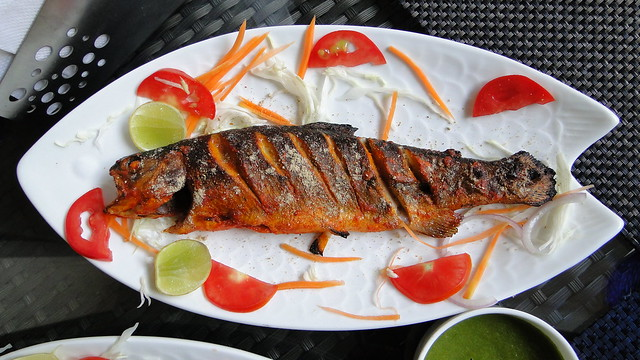 Sonamarg - Freshly caught trout and cooked in tandoor