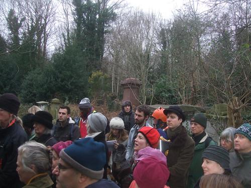 New Year's Day tree walk, Abney Park