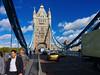 People walking on Tower Bridge,London