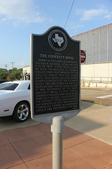 Photo of Davy Crockett black plaque