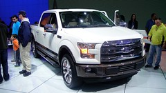 automobile(1.0), automotive exterior(1.0), pickup truck(1.0), sport utility vehicle(1.0), wheel(1.0), vehicle(1.0), truck(1.0), rim(1.0), auto show(1.0), ford f-series(1.0), bumper(1.0), ford(1.0), land vehicle(1.0), motor vehicle(1.0),