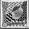 Just another tangled tile #zentangle