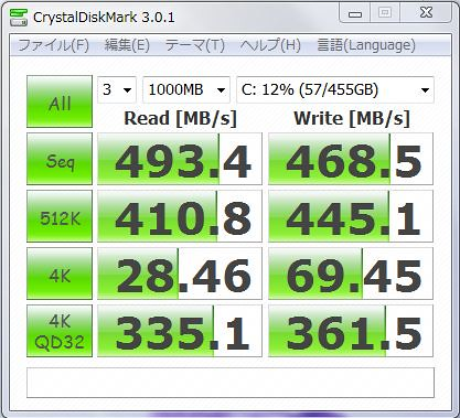 MX100512GBベンチ