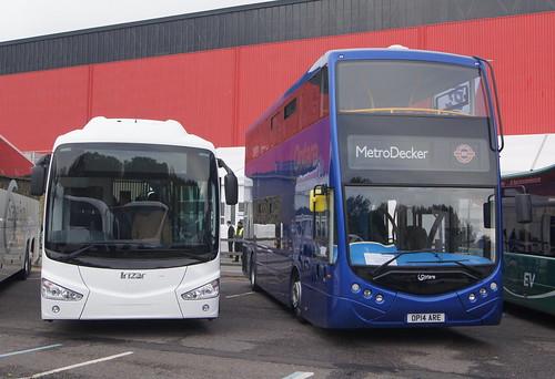 Euro Bus Expo 2014 - Irizar i3 and Optare MertoDecker