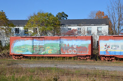 Woodstock, Ontario Photo Old Freight Box Car In Abandon CN Yard