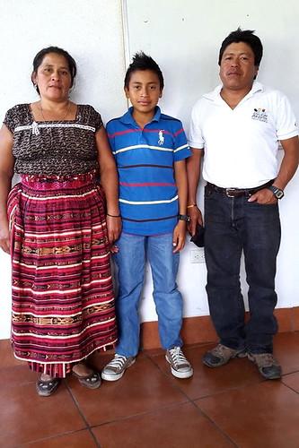 Gerson Danilo Sohom y padres